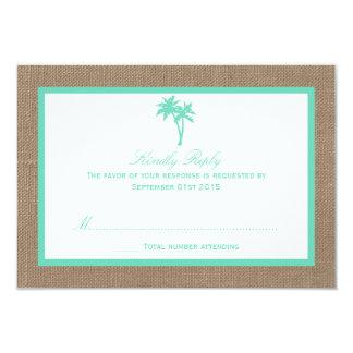 A coleção tropical do casamento de praia da convite 8.89 x 12.7cm