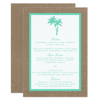 A coleção tropical do casamento de praia da convite 11.30 x 15.87cm