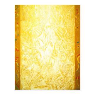 A coluna da luz (simbolismo abstrato) cartão postal
