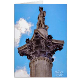 A coluna de Nelson, cartão de Londres