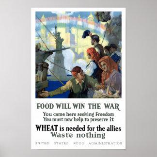 A comida ganhará a guerra -- Guerra mundial 1 Poster