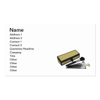 A composição escova a caixa de vime cartão de visita