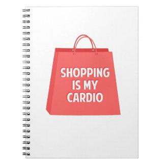 A compra é meu cardio- cadernos
