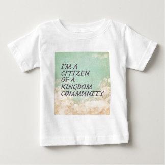A comunidade do reino camiseta para bebê