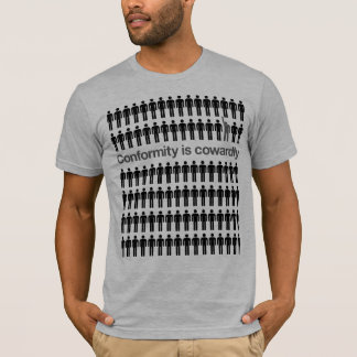A conformidade é camisa Cowardly
