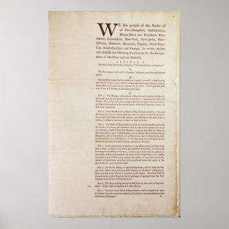 A constituição de Estados Unidos, 1787 Poster