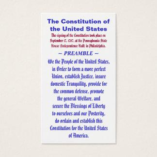A constituição do PREÂMBULO do ~ dos Estados Cartão De Visitas