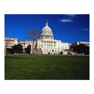 A construção do Capitólio, Washington, C.C., EUA Panfletos