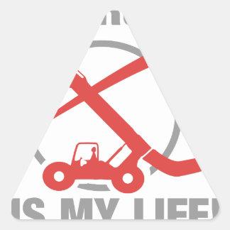 A construção é minha vida - empilhadeira adesivo triangular