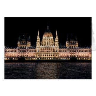 A construção húngara do parlamento, Budapest Cartão Comemorativo