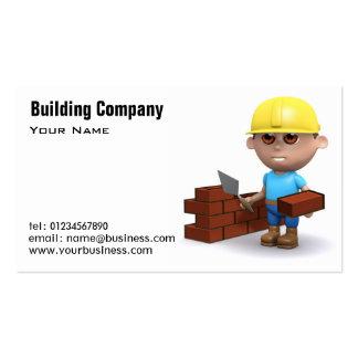 A construção presta serviços de manutenção a cartõ cartão de visita