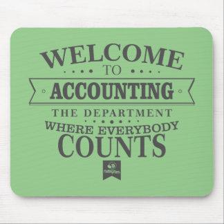 A contabilidade é onde todos conta! Mousepad