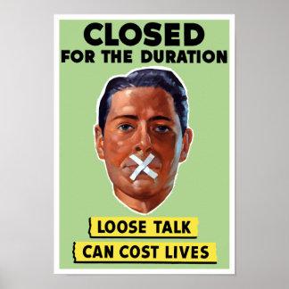 A conversa fraca pode custar vidas -- WWII Poster