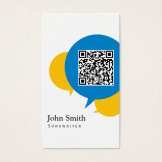 A conversa simples borbulha cartão de visita do
