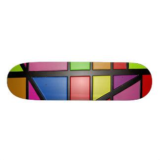 "A cor abstrata telha a plataforma do skate 8 1/8"""