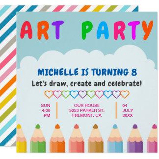A cor escreve o convite do aniversário do partido