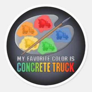 A cor favorita é etiqueta concreta do caminhão adesivos redondos