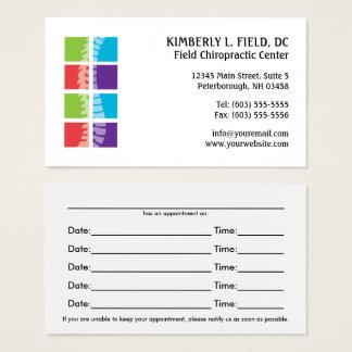 A cor obstrui cartões da nomeação da quiroterapia