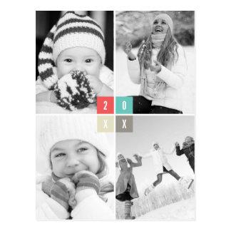 A cor obstrui o cartão do feriado da foto do feliz