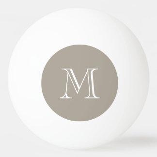 A cor sólida de Greige personaliza-o Bola Para Ping-pong