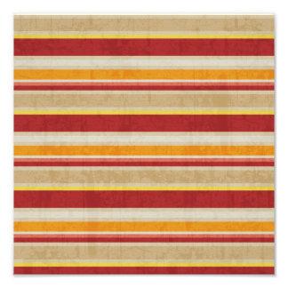 a COR stripes69 NEUTRA ALARANJADA VERMELHA LISTRA  Impressão De Foto
