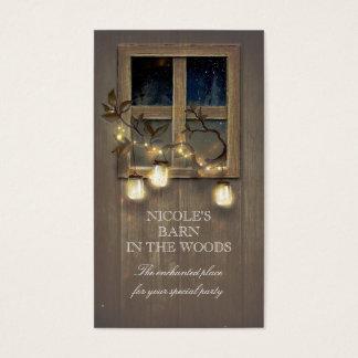 A corda de madeira dos frascos de pedreiro do cartão de visitas