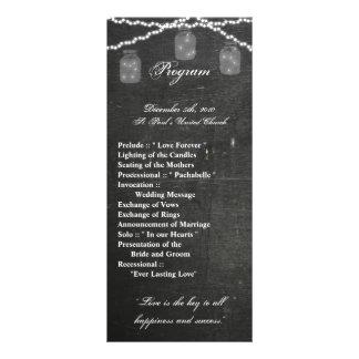 a corda do frasco de pedreiro do programa do 10.16 x 22.86cm panfleto