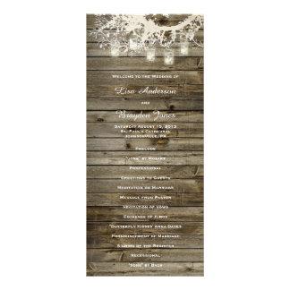 A corda do frasco de pedreiro ilumina o programa 10.16 x 22.86cm panfleto