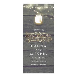 A corda do frasco de pedreiro ilumina programas 10.16 x 22.86cm panfleto