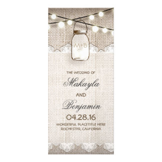 A corda do frasco de pedreiro ilumina programas do 10.16 x 22.86cm panfleto
