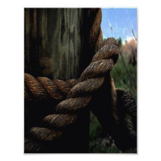 A corda do marinheiro impressão de foto