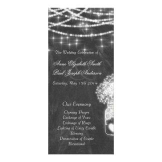 A corda do quadro ilumina programas do casamento 10.16 x 22.86cm panfleto