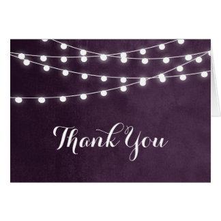 A corda do verão ilumina cartões de agradecimentos