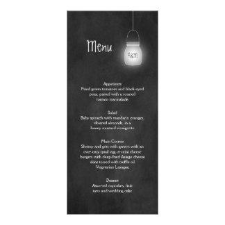 A corda dos frascos de pedreiro ilumina cartões do 10.16 x 22.86cm panfleto