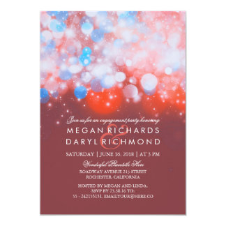 A corda ilumina a festa de noivado Pastel Convite 12.7 X 17.78cm