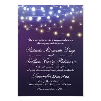 A corda ilumina o casamento da noite convite 12.7 x 17.78cm
