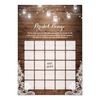 A corda rústica do jogo do Bingo do chá de panela Convite 12.7 X 17.78cm