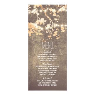 a corda rústica do país ilumina cartões do menu do 10.16 x 22.86cm panfleto