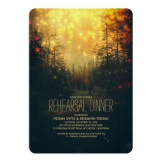 A corda sonhadora da floresta ilumina o jantar de convite 12.7 x 17.78cm