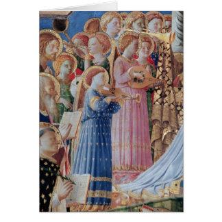 A coroação da virgem cartão