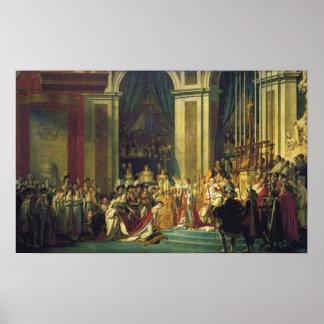 A coroação de Napoleon Pôster