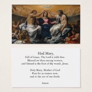 A coroação do cartão da oração de Mary da saraiva