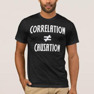 A correlação não iguala a causa camiseta
