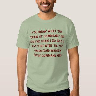 A corrente de Jayne Camisetas