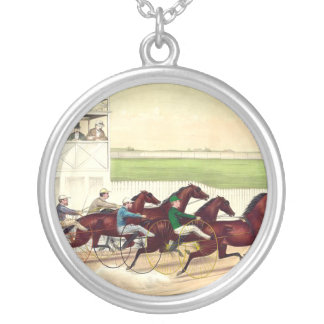 A corrida de cavalos SUPERIOR é minha vida Colar Banhado A Prata