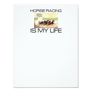 A corrida de cavalos SUPERIOR é minha vida Convite 10.79 X 13.97cm