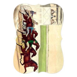 A corrida de cavalos SUPERIOR é minha vida Convite 12.7 X 17.78cm