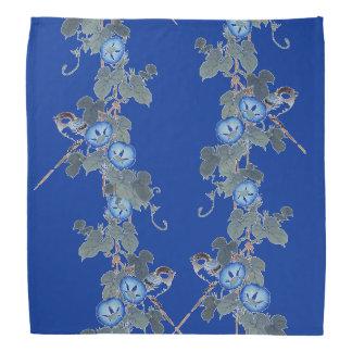 A corriola azul floresce o Bandana dos animais dos