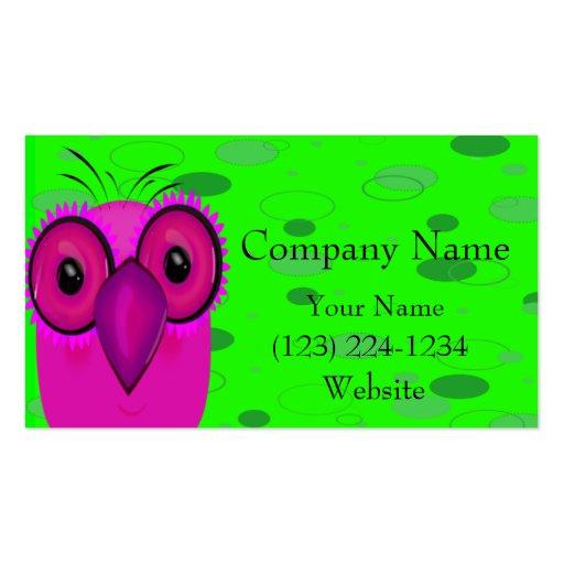 A coruja cartao de visita
