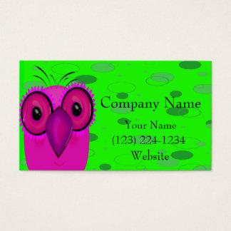 A coruja cartão de visitas